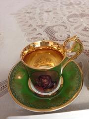 Чайный сервиз позолота 24 кар